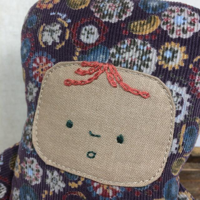 コール天の男の子(むらさき)(ぬいぐるみ 人形)