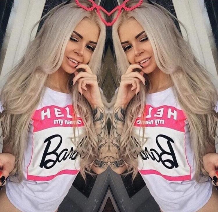 【即納】BarbieロゴピンクTシャツ