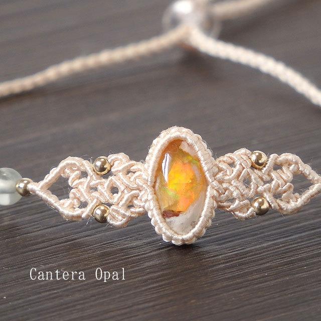 カンテラオパールの絹糸ブレスレット