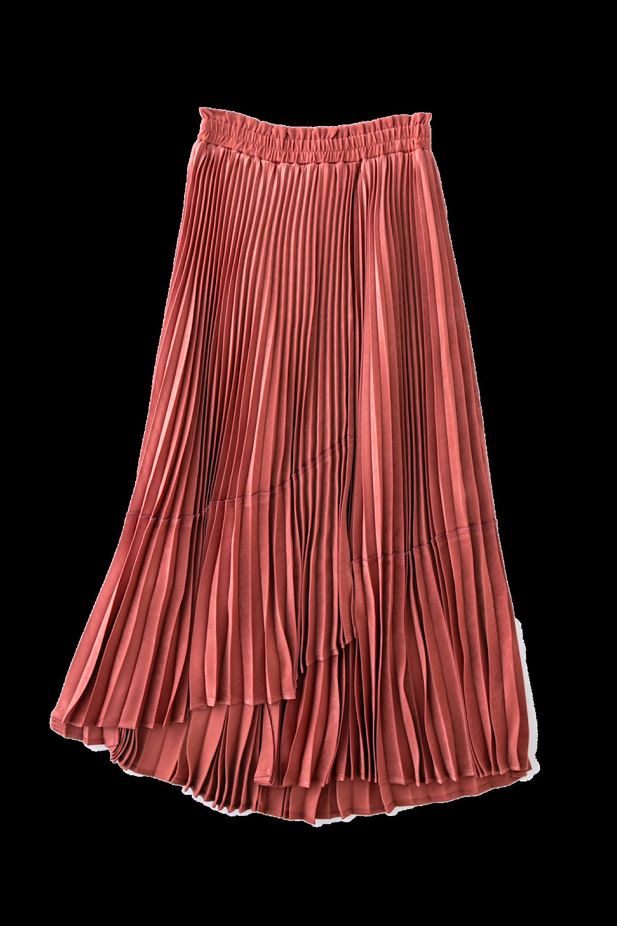 ランダムプリーツスカート <アプリコット>