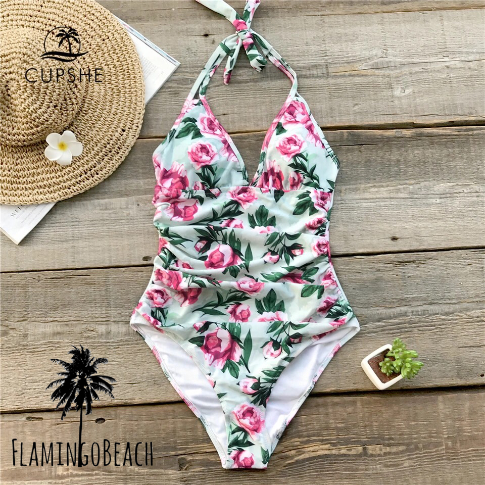 【FlamingoBeach】rose monokini モノキニ