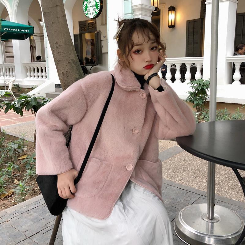 【送料無料】かわいい♡ パステルカラー ガーリーなもこもこジャケット