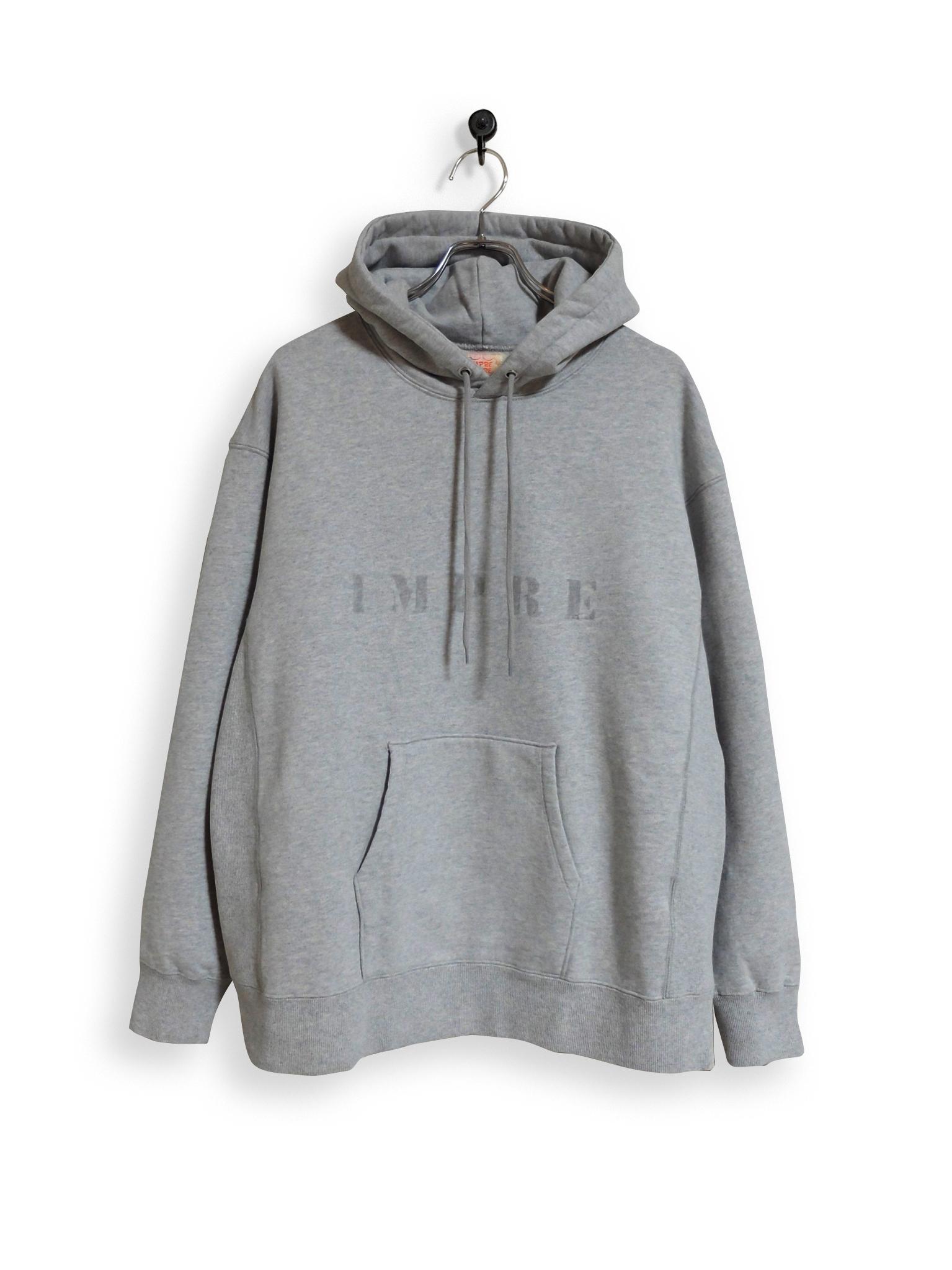 Original Hooded Sweatshirt / stencil / gray