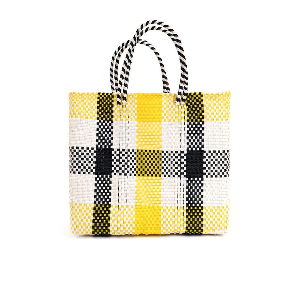 MERCADO BAG 3CHECK - Yellow x White x Black(S)