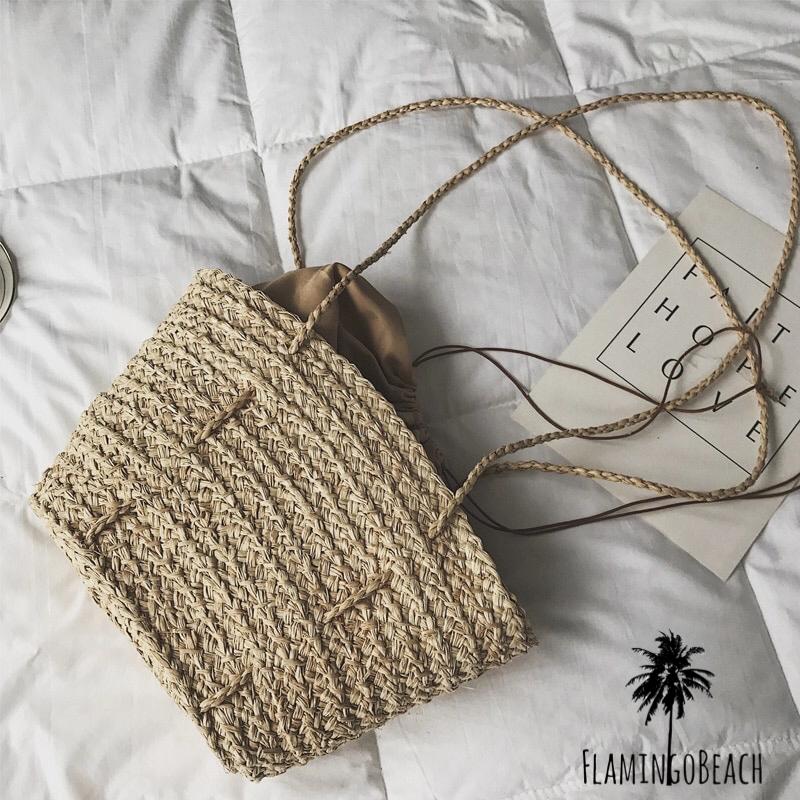 【FlamingoBeach】straw bag ストローバッグ