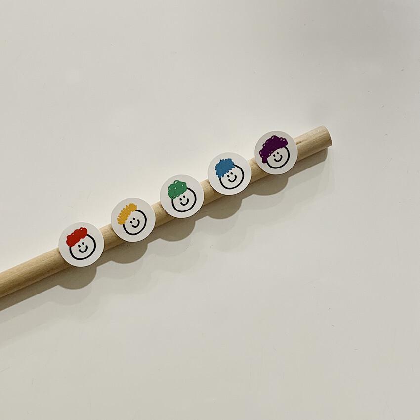 [OS-21] カラーヘアファミリー ステッカー