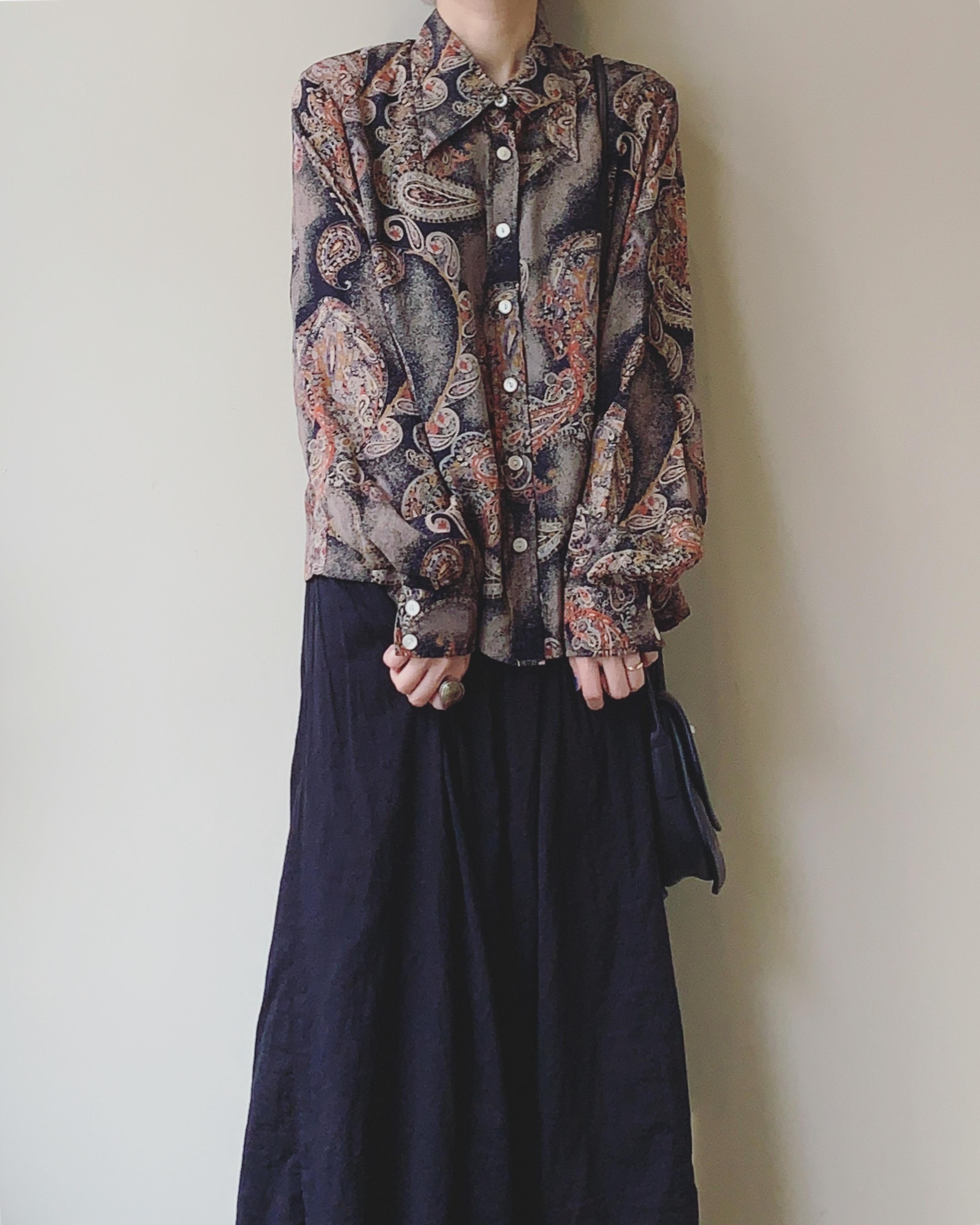 vintage paisley design blouse