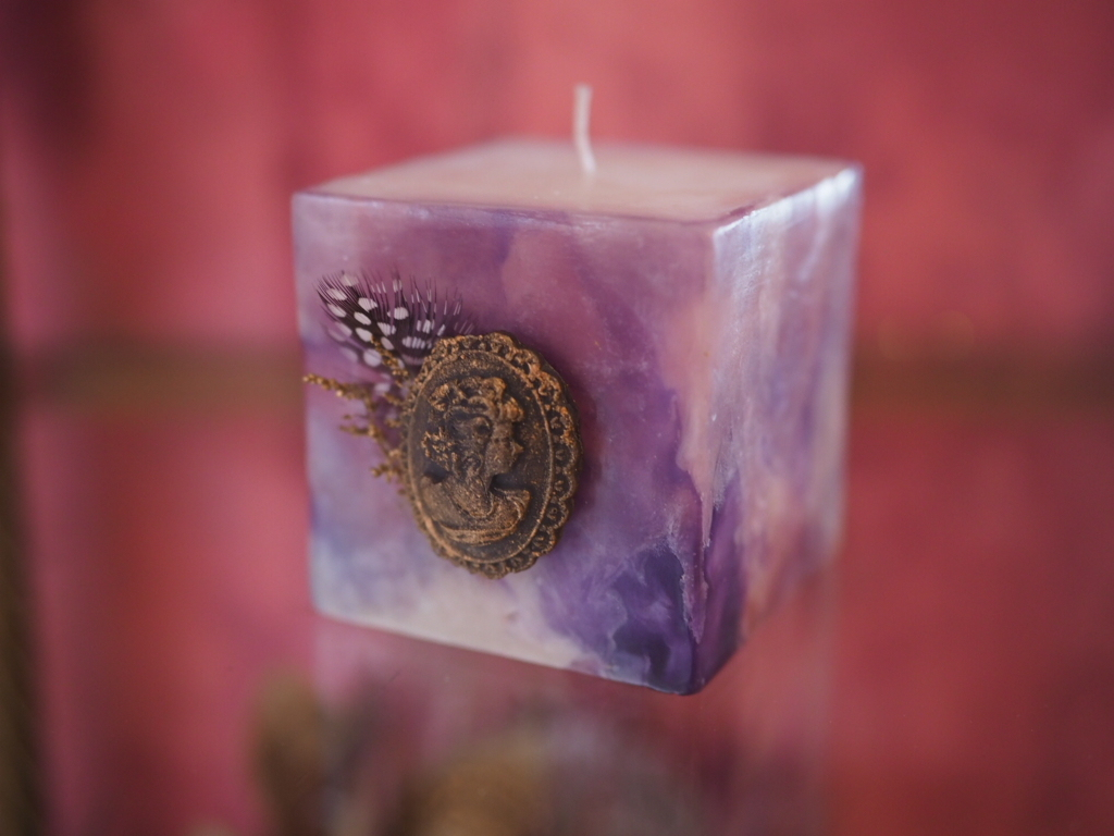 marbleize candle