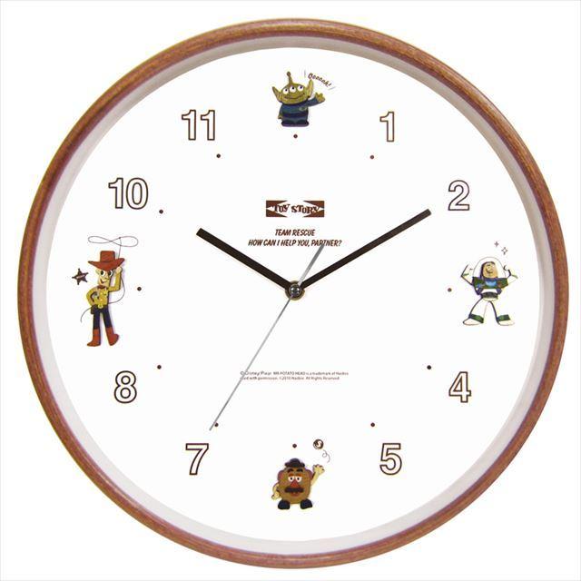 掛け時計 スイープムーブ ディズニー ウッドパーツクロック トイストーリー APJ - 画像1