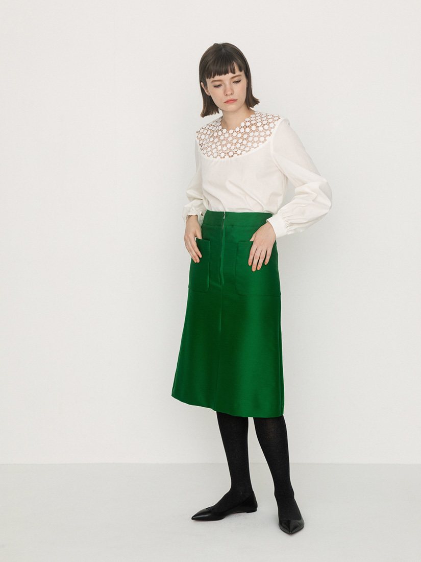 yoke race blouse