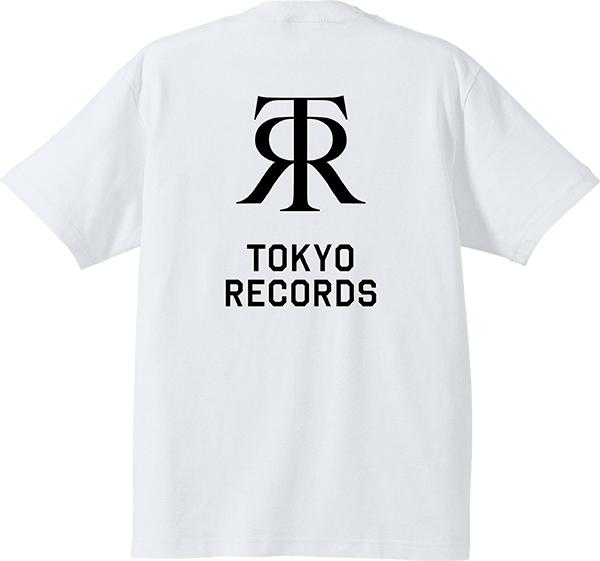 TOKYO RECORDS BP TEE(WHT x BLK)