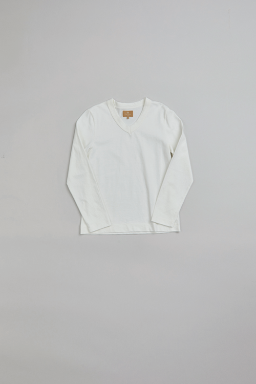 Vネックティーシャツ / V NECK- LONG SLEEVE