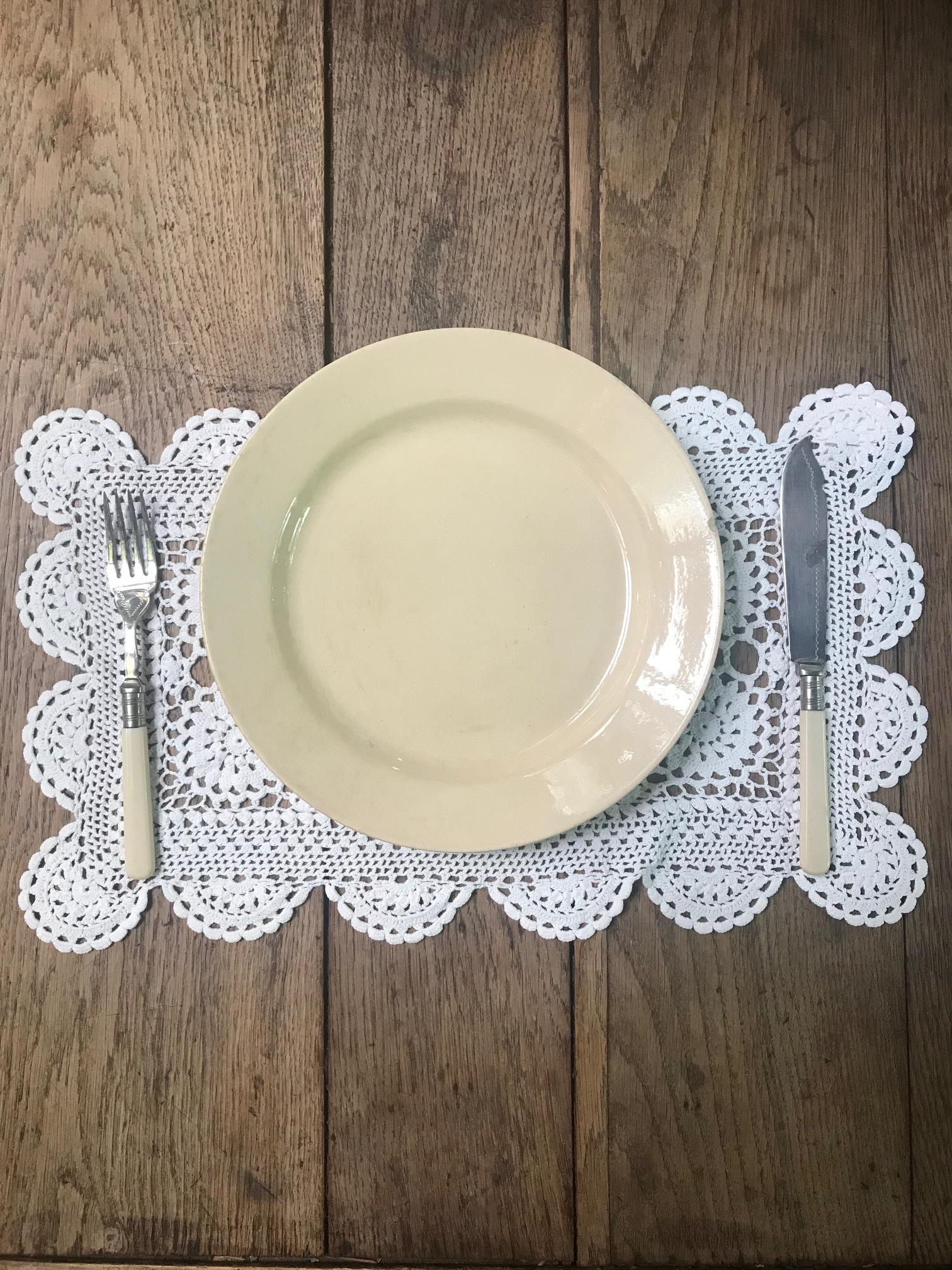 Boch Frères ベルギーアンティーク ディナープレート 皿A