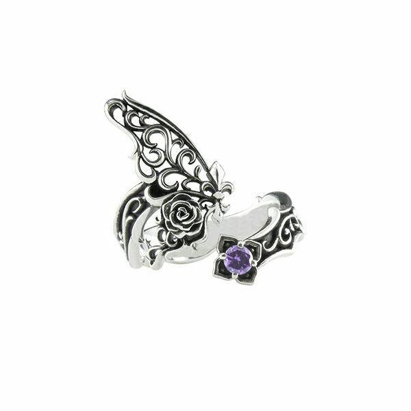 パピヨンローズリング シルバーリング AKR0031 Papillon rose ring silver ring