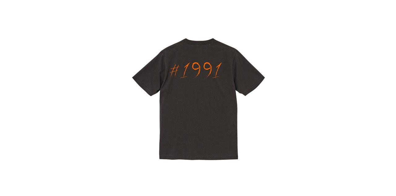 1991 vintage T-shirt (BLK/OR)