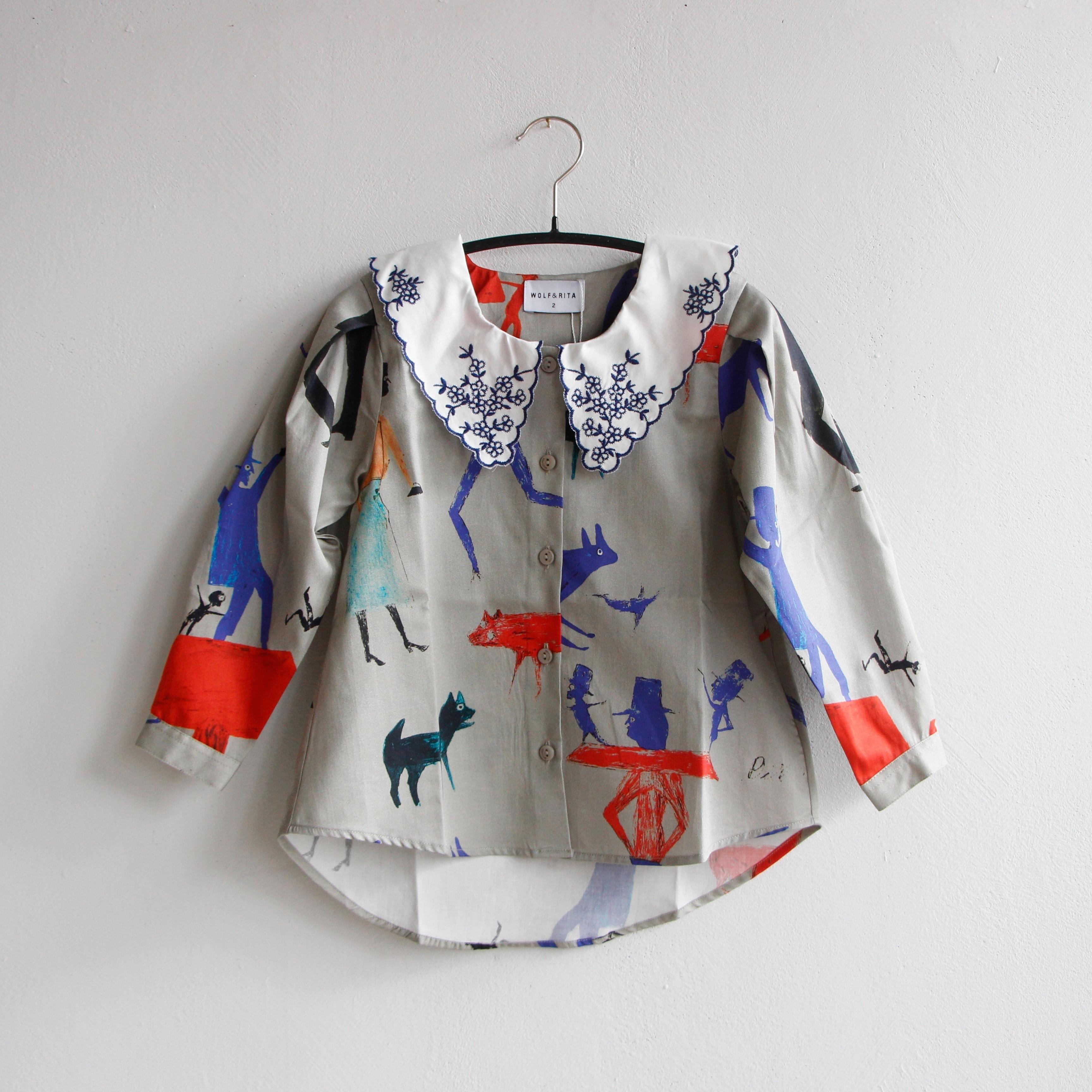《WOLF & RITA 2020AW》TATIANA blouse / rabbit and man