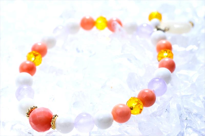 Coral sea stone【パワーストーンブレスレット 】 - 画像2