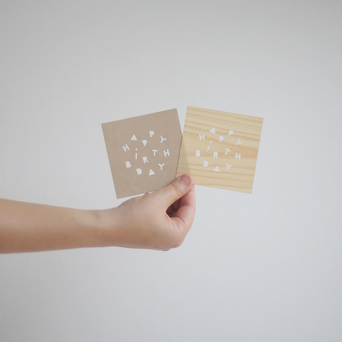 die-cut card / 型抜きカード