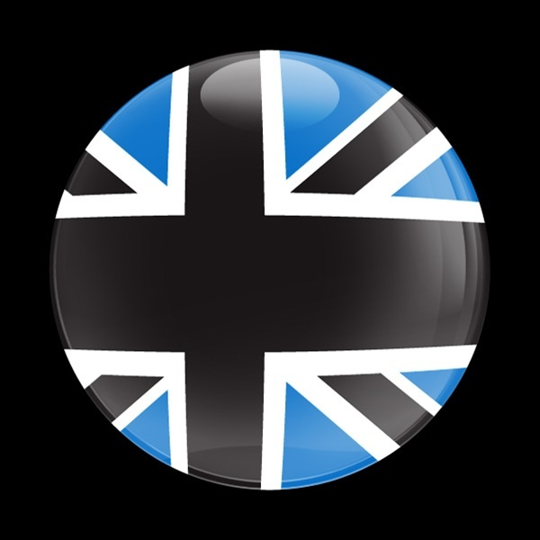ドームバッジ(CD0153 - FLAG BLACKJACK BLUE) - 画像1