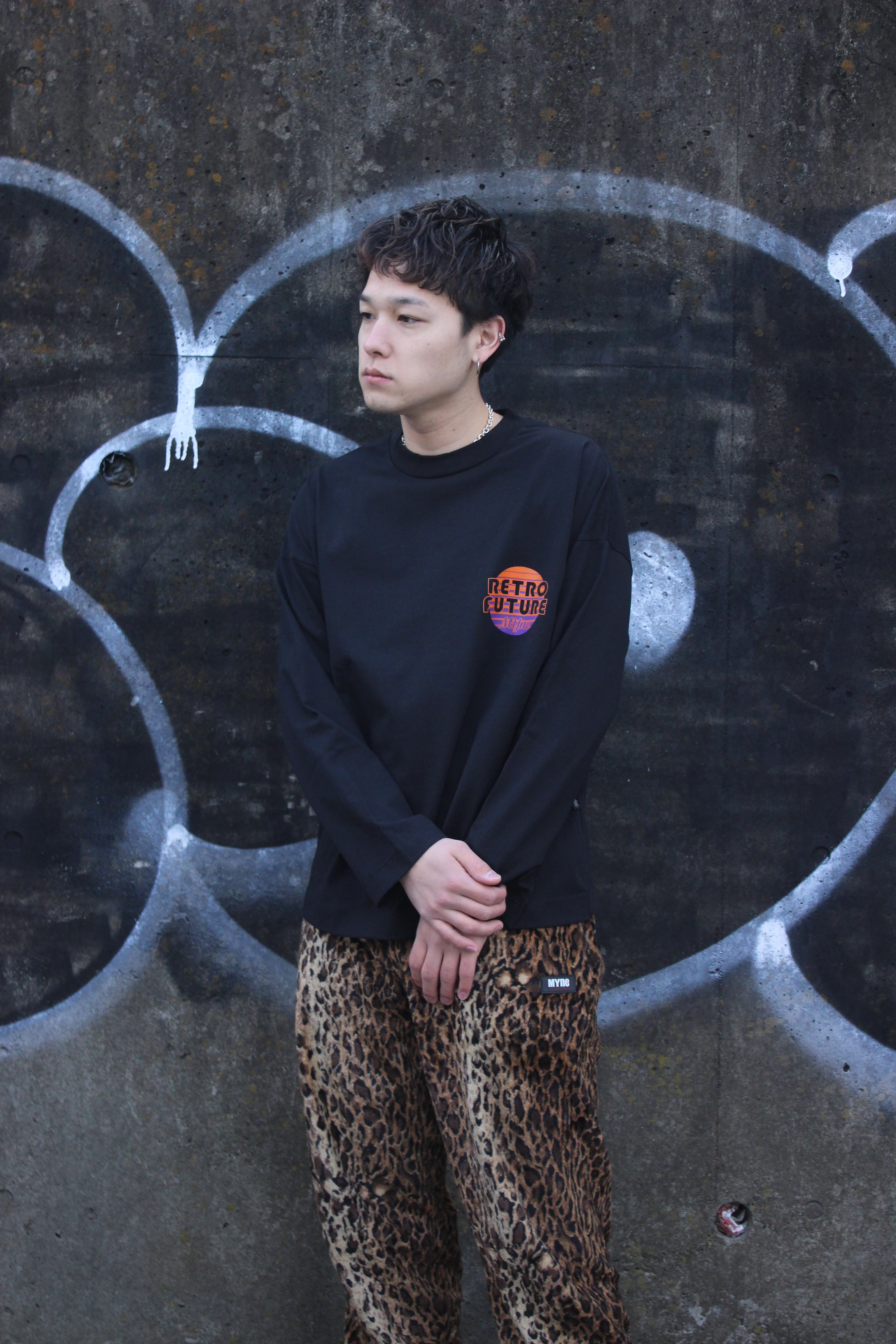 RETRO FUTURE L/S T-shirt / BLACK - 画像3
