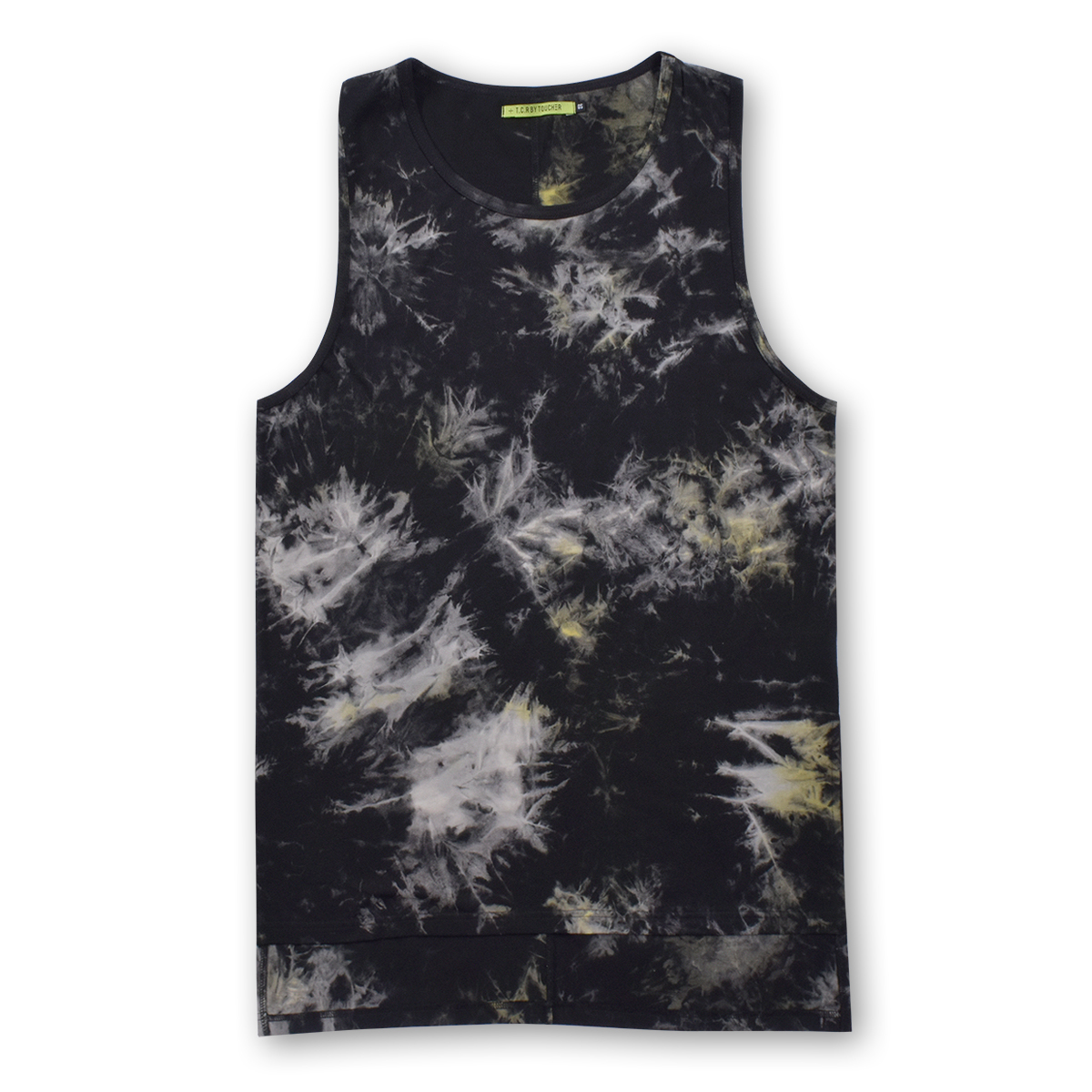 T.C.R TIE DYE LAYERED TANK TOP - YELLOW