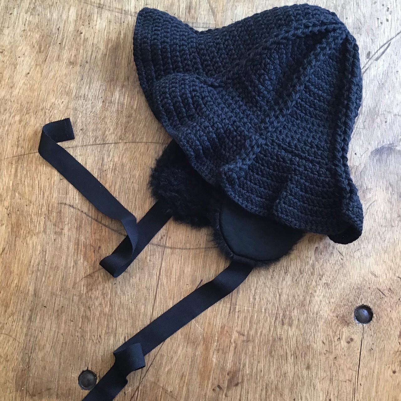 FUMIETANAKA F20A-55tulip knit hat color black size F