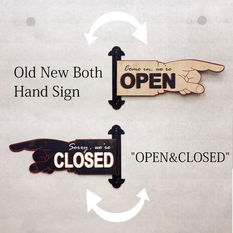 ハンドサイン型 OPEN CLOSEサイン