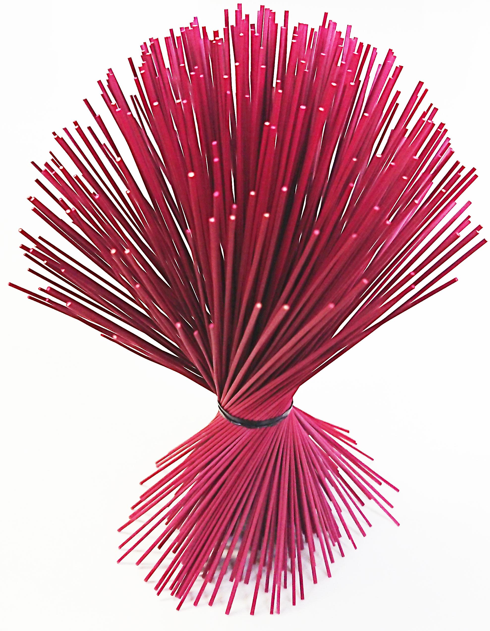 【イ草フラワー ミニ レッド】Rush Grass Flower Mini Red 17.5cm