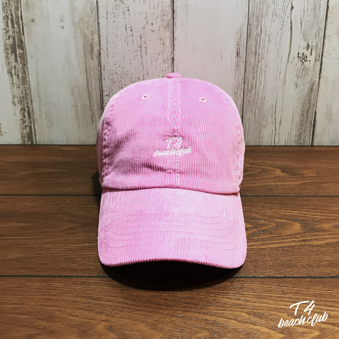 【TF007】 T4beachclub 6PANEL CORDUROY CAP