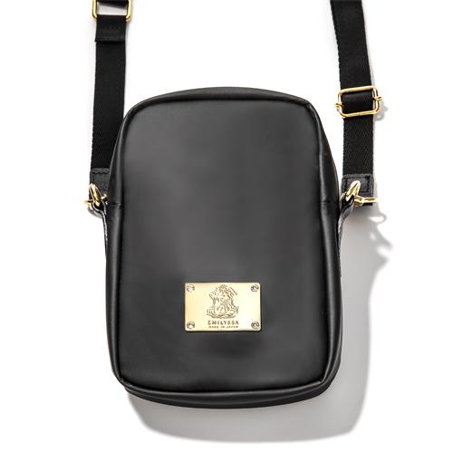 EMILYSSA SW CROSSBODY BAG Lサイズ/Black × Gold(ブラック × ゴールド)