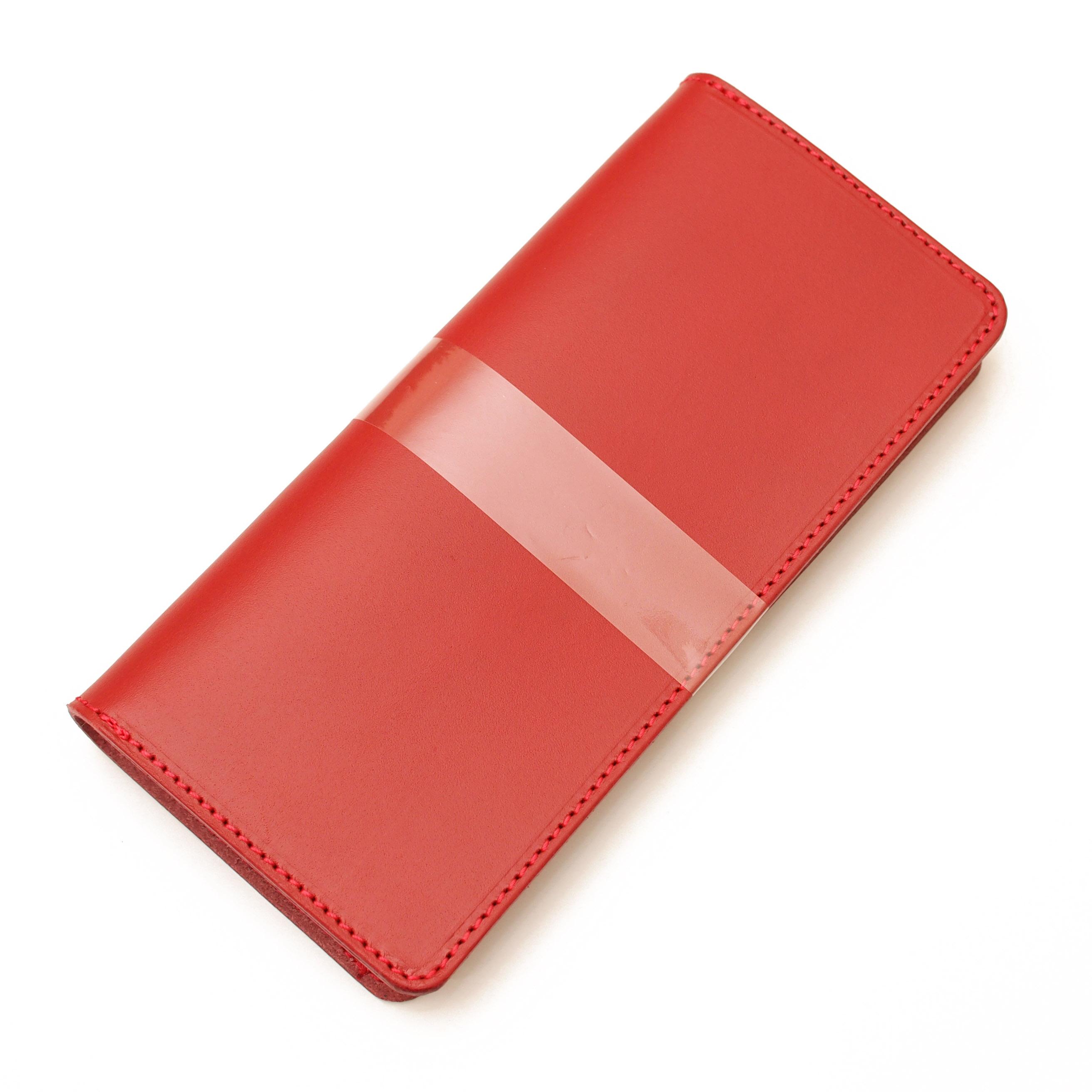 ほぼ全機種製作レッド手帳型スマホケース国産牛革 iPhone XPERIA Galaxyなど