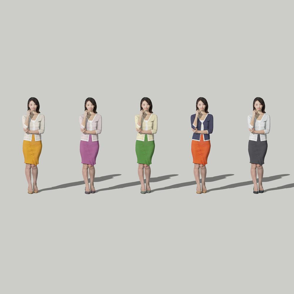 SketchUp素材 3D人物モデル ( Posed ) 097_Aya - 画像2