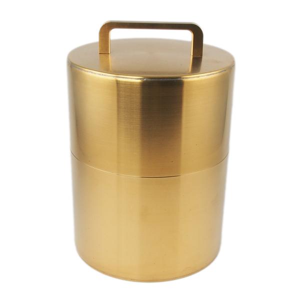 開化堂 珈琲缶200g スプーン付 真鍮
