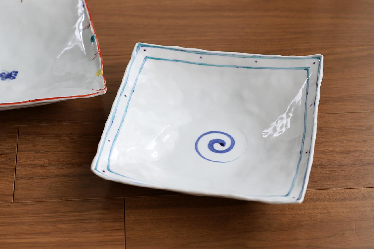 松尾貞一郎 6寸角鉢 約18cm角 200319-K1 貞土窯(有田焼)