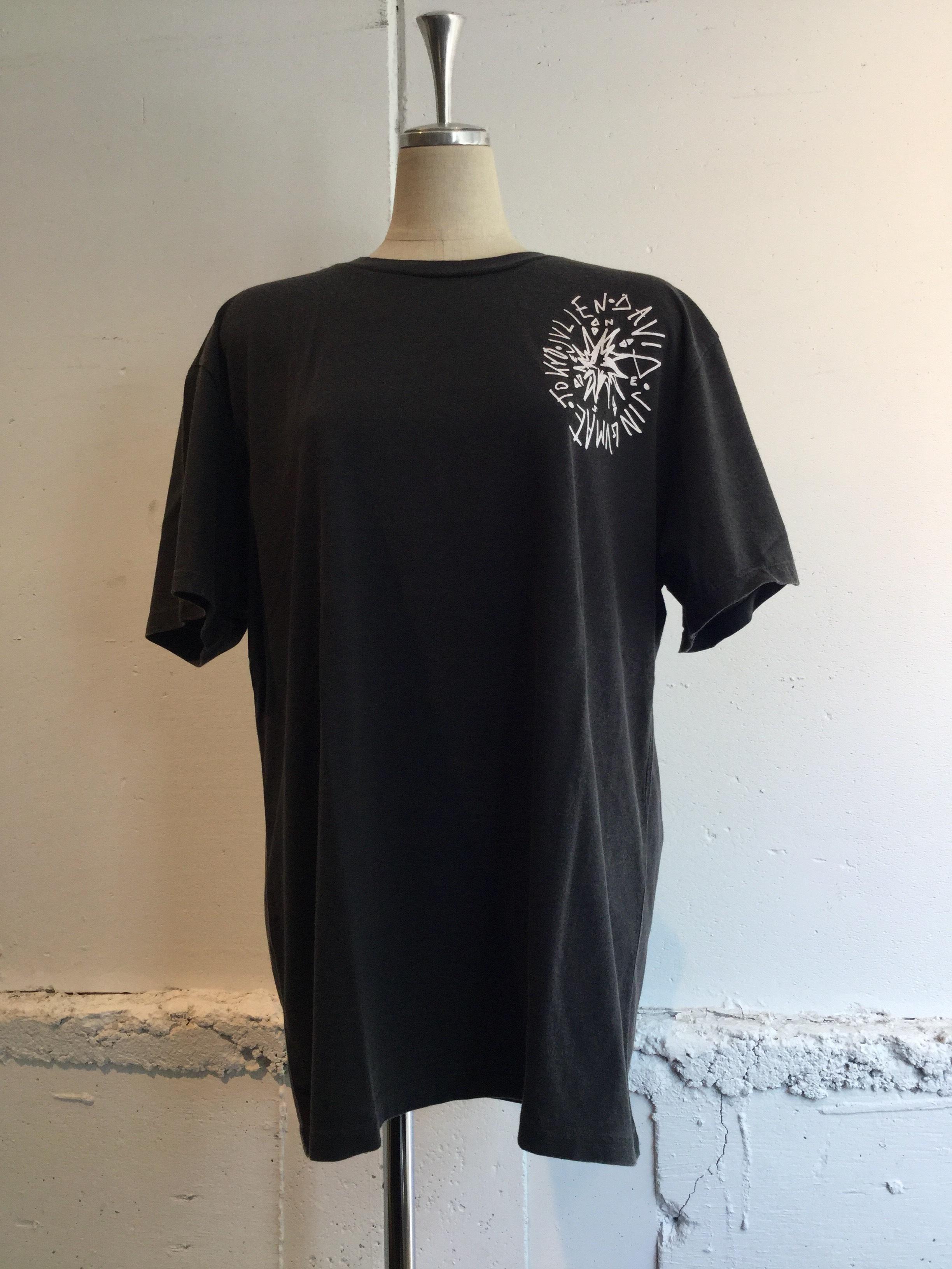 JULIEN DAVID Printed T-shirt COMPASS (BLACK)