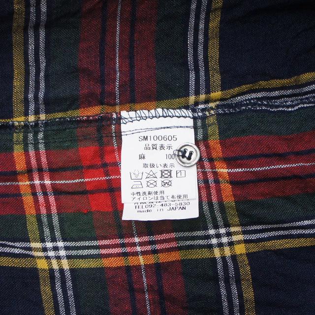 ICHI Antiquites イチアンティークス リネンタータンチェックシャツ レディース シャツ チェック リネン 長袖 春 秋 冬 通販 (品番100605)