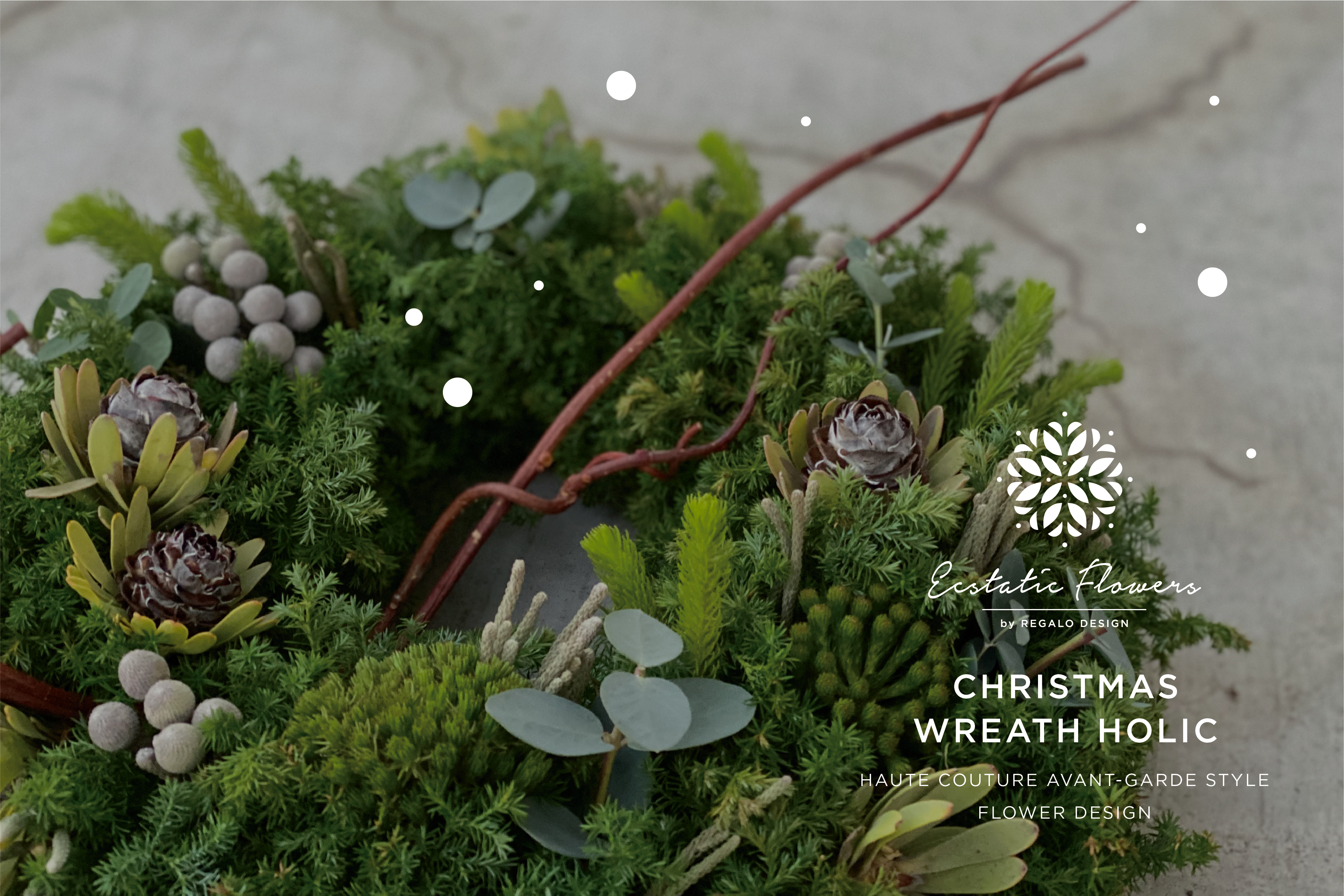 CHRISTMAS WREATH HOLIC/size:L