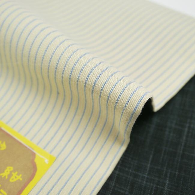 半幅帯-片貝木綿 縞