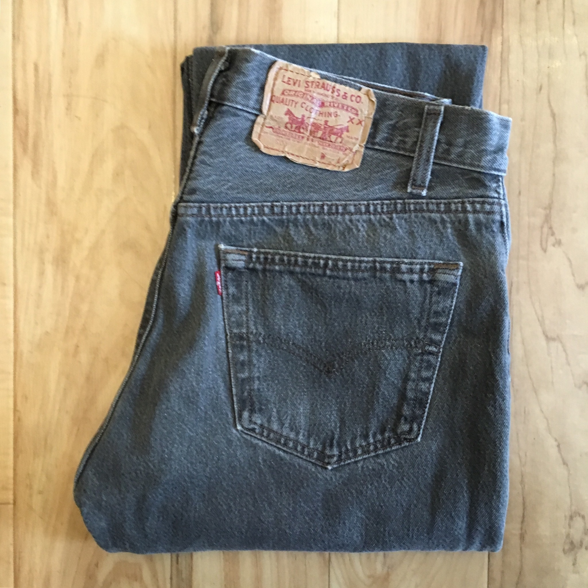 "Levi's 501 BLACK W32 inch ""Made in USA """