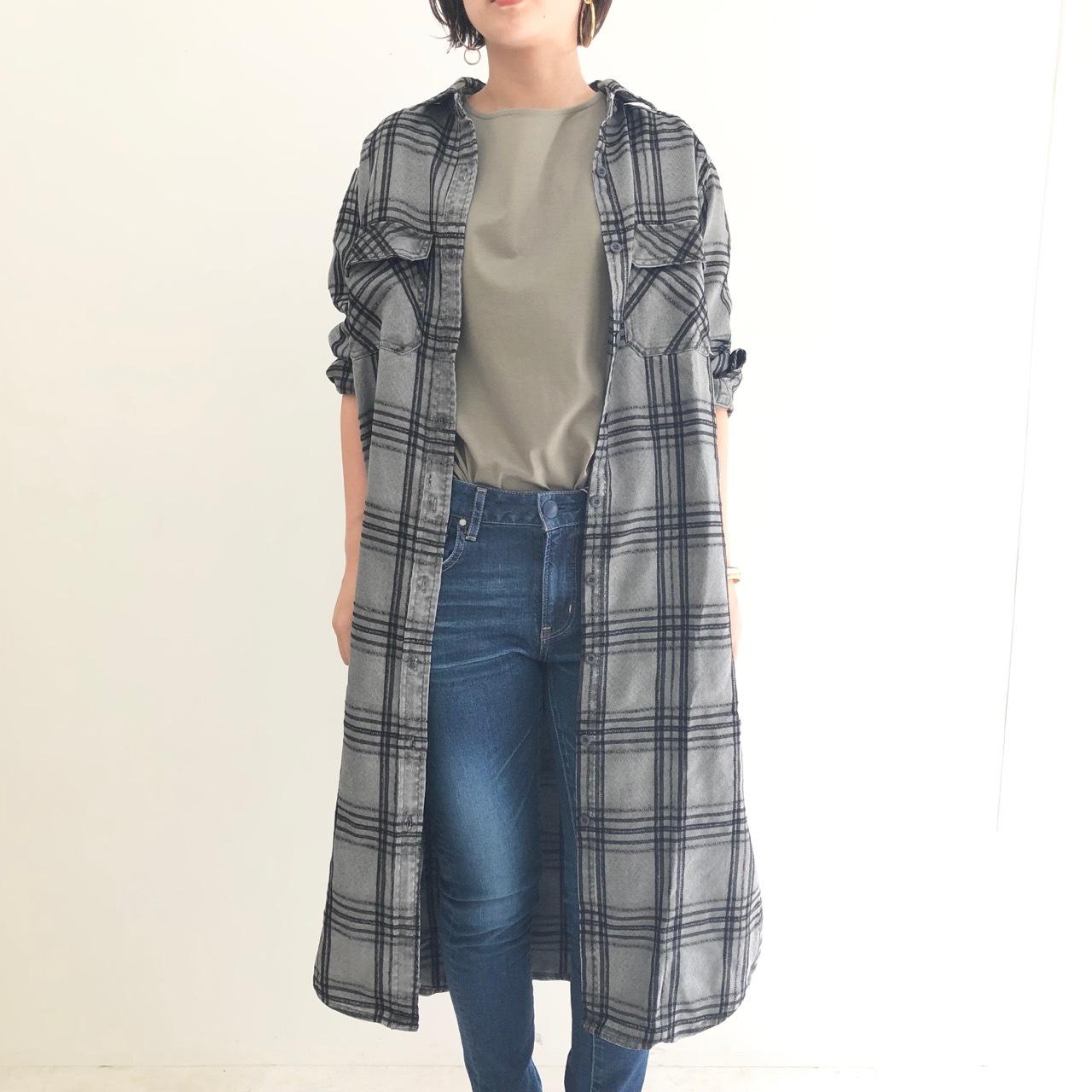 【 flamingo firm 】- 150139 - ロングチェックシャツ