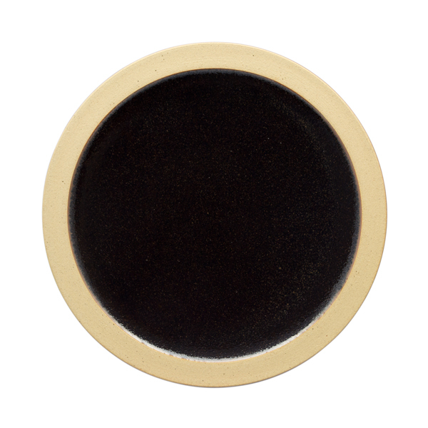 出西窯 縁焼〆皿 5寸 黒