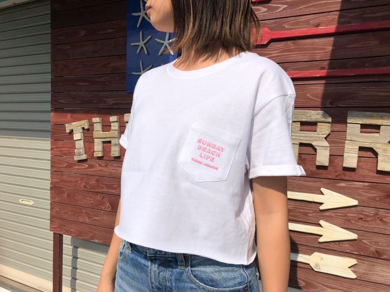 Sunday Beach Life Tシャツ(light pink × pink)