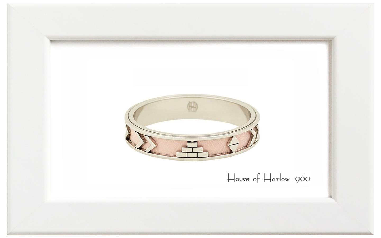 House of Harlow1960/ハウス・オブ・ハーロウ1960 Aztecバングル/シルバー with ピンク
