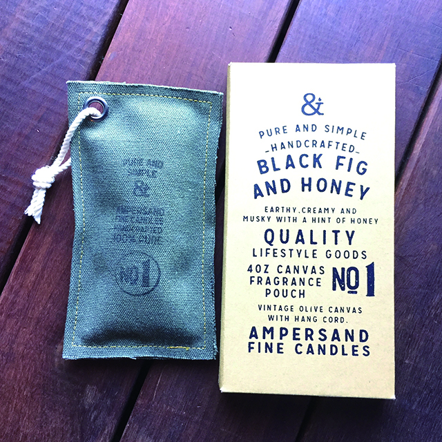 Canvas Fragrance Pouch -BLACKFIG AND HONEY- キャンドル Candles - 画像1