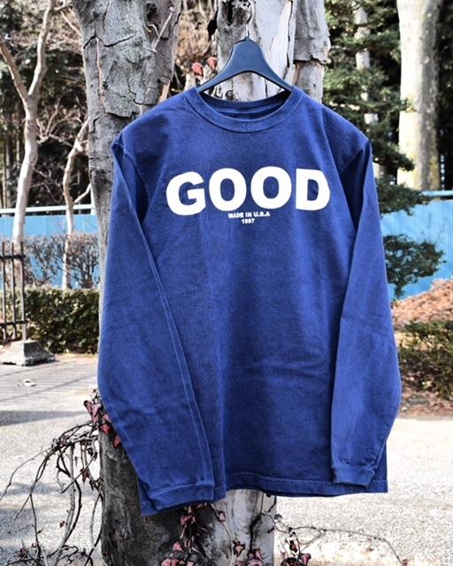 "Good On(グッドオン) L/S ""GOOD ON"" LOGO T/""GOOD ON"" ロゴ長袖Tシャツ"