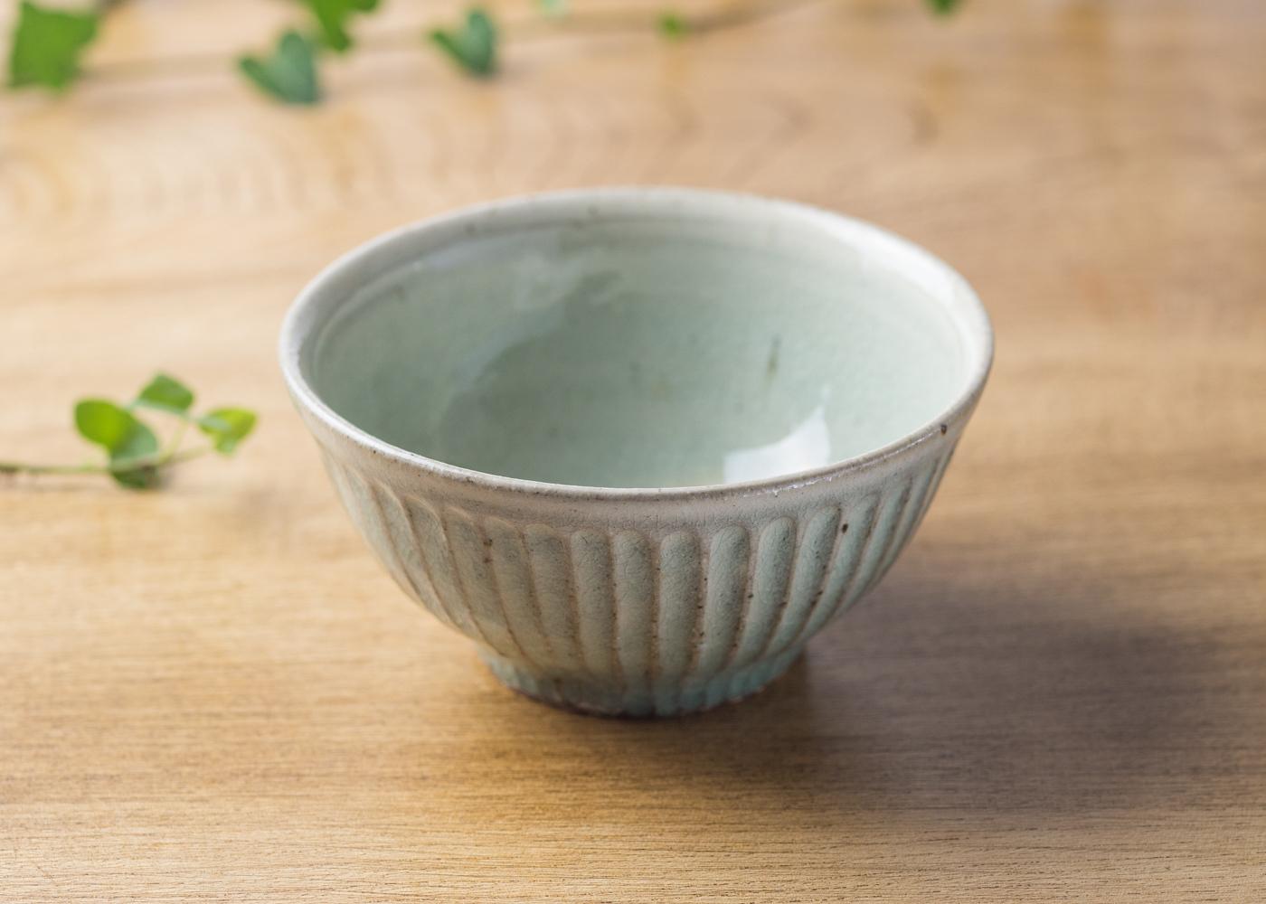 灰釉 粉引 鎬 飯碗(小)1/くるり窯