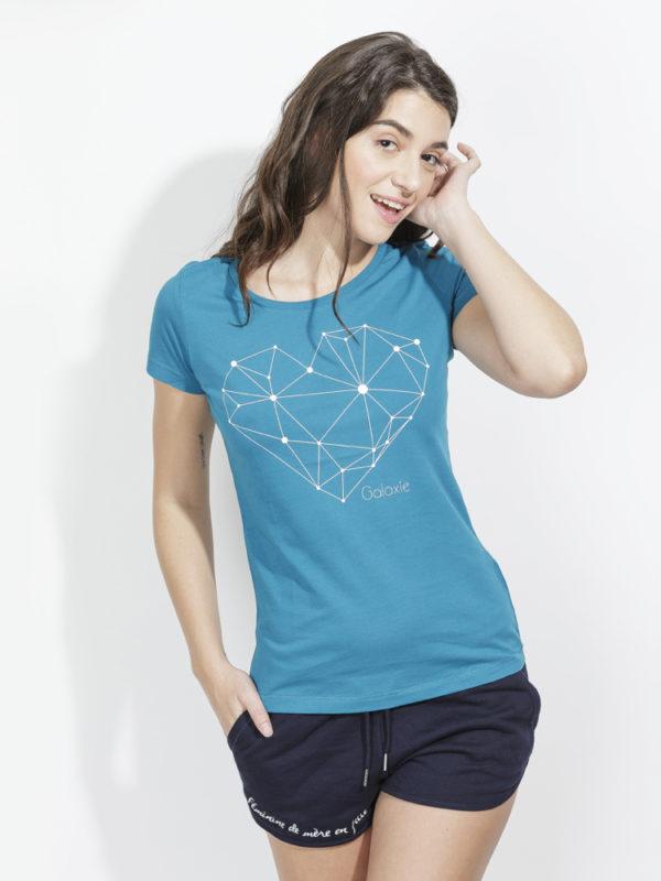 フランス製Tシャツ『GALAXIE PETROLE』