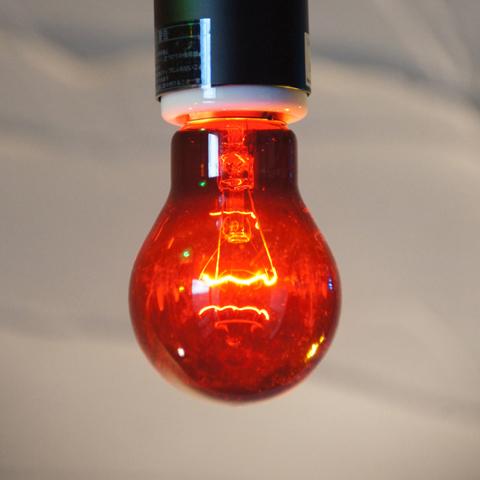 E26 40W 透明カラーランプ レッド ※電球のみ