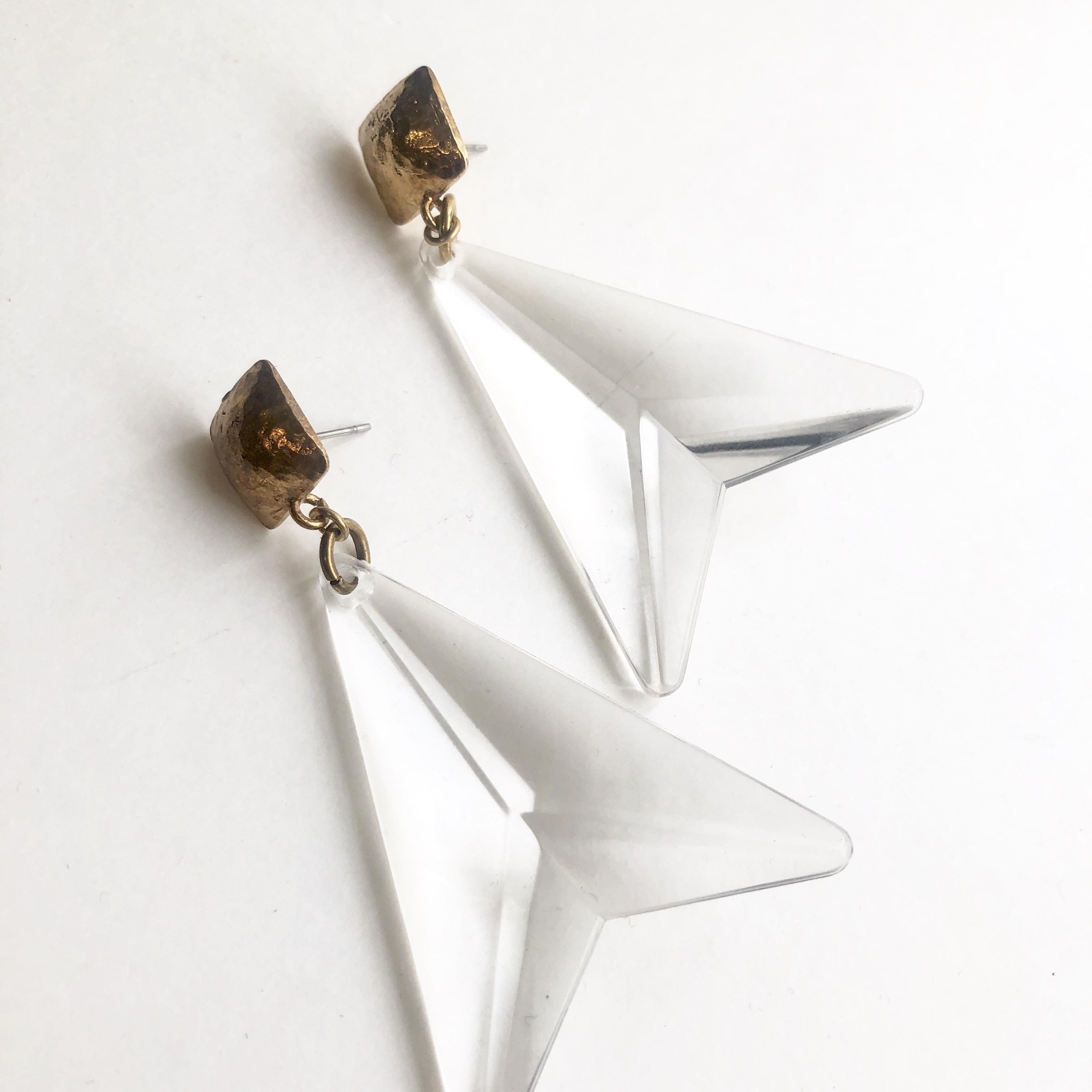 Cristal arrow ピアスL-001