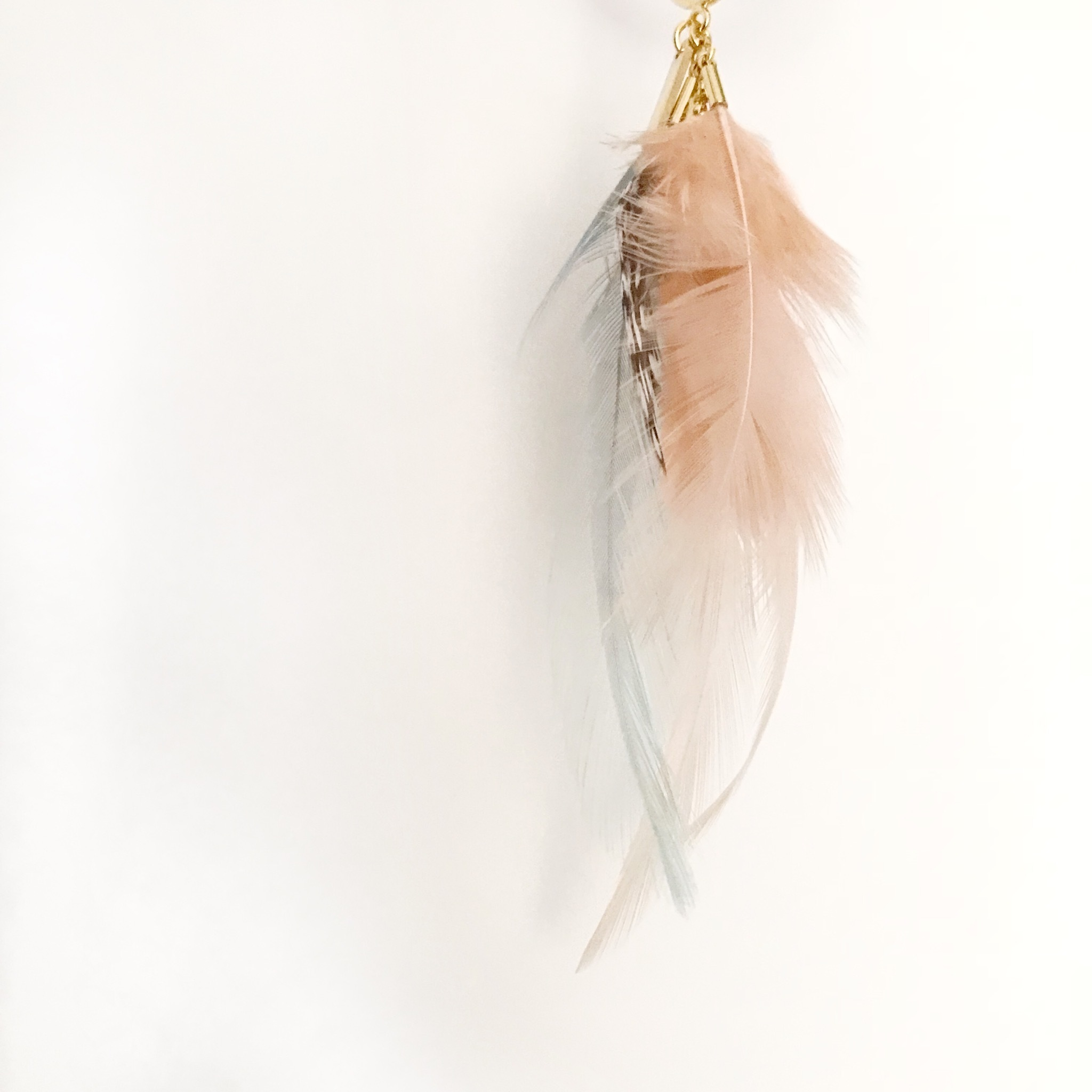 FEATHER 片耳用 / pink